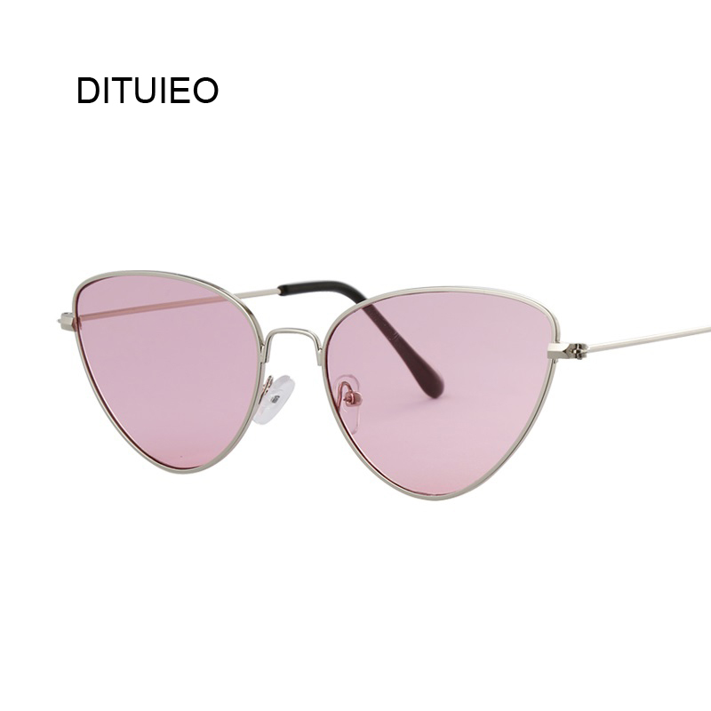 Pink Butterfly Sunglasses Women Brand Designer Vintage Fashion Rose Gold Mirror Sun Glasses For Women Unique Ladies Female