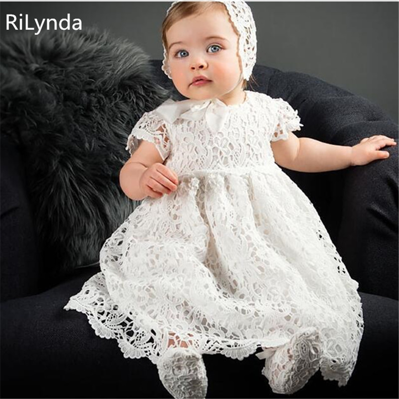 Cute Baby Dresses for Girls Birthday Bebes Long sleeves Princess Dress For Girl Baptism Gown Girls 2 Year Vestido Infantil 3-24M bbwowlin pink baby girls formal dresses vestido infantil for 0 2 years birthday pary christmas for kids princess dress 9055