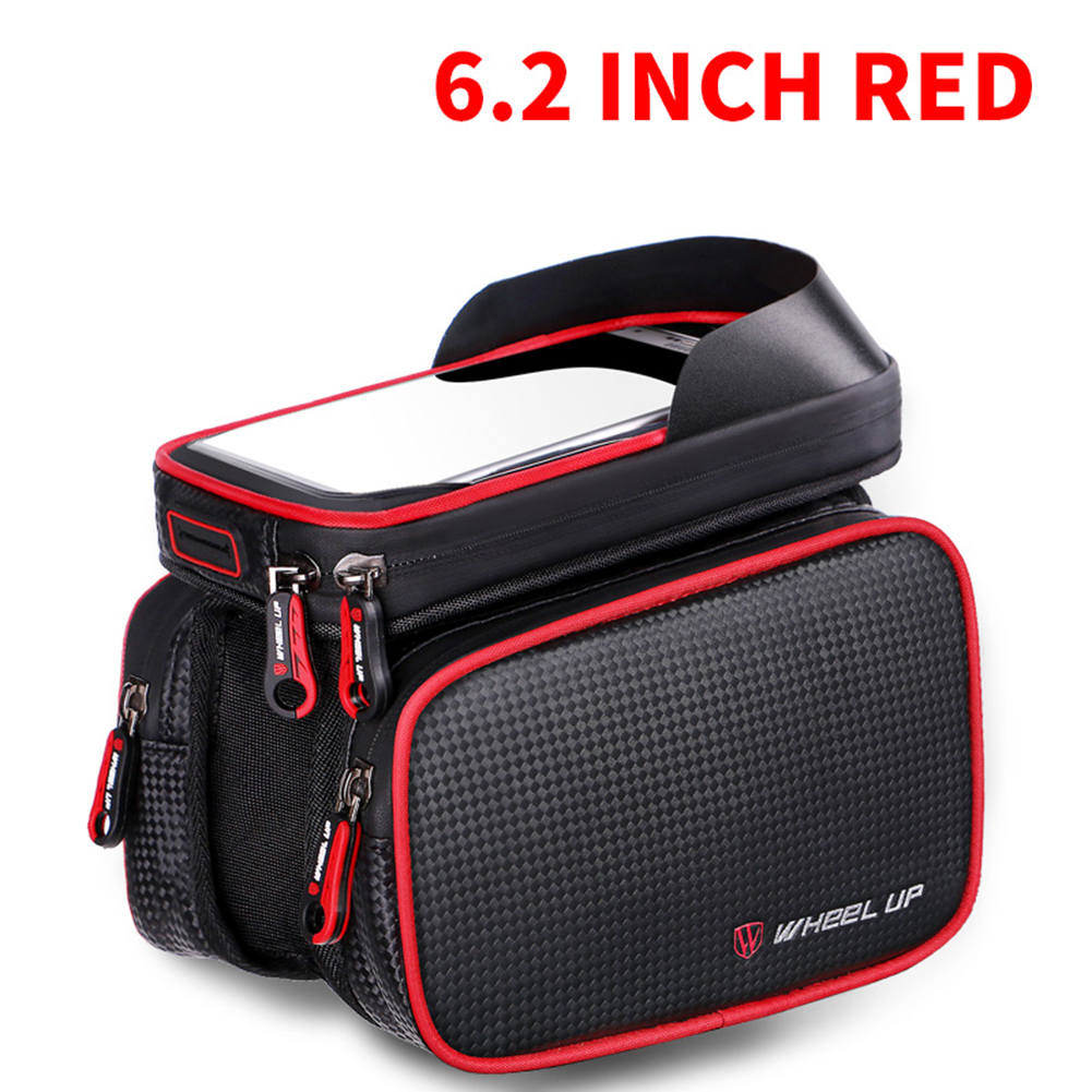 "6.2 "" Waterproof Phone Bag TPU Touch Screen Bike Front Frame Top Tube Bag Bicycle Mobile Phone Pouch MTB Bicycle <font><b>Accessories</b></font>"
