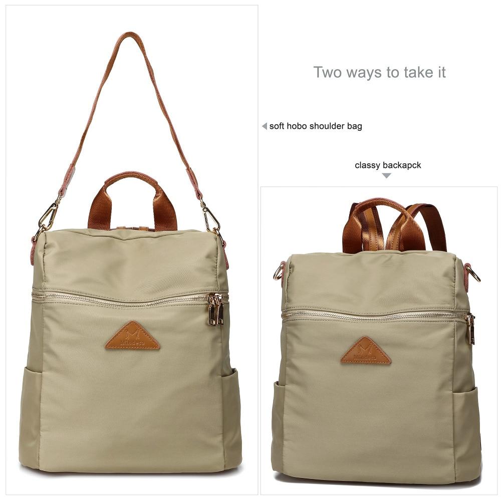 Vrouwen waterdichte nylon back pack dames schouder lichtgewicht reizen purse sling tassen voor vrouwen college boekentas - 3