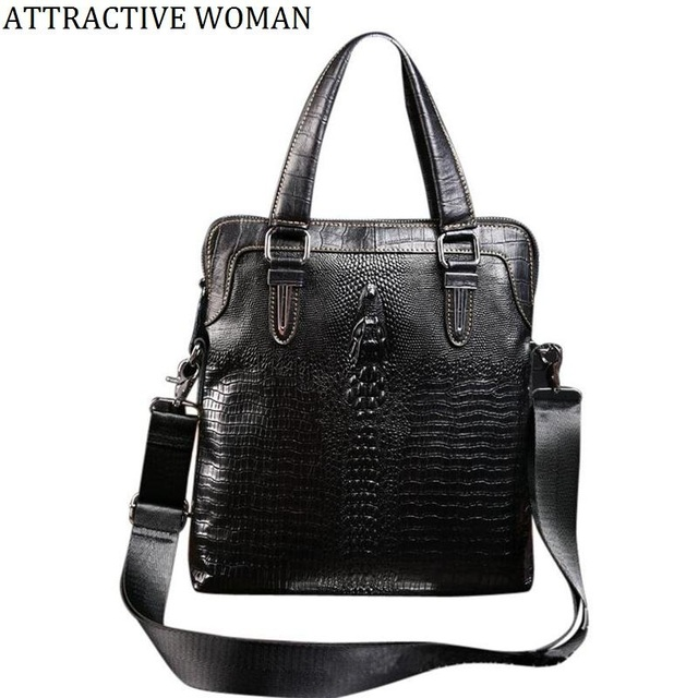 Lowest Price Genuine Leather Men Bag Cow Briefcase S Messenger Bags Travel