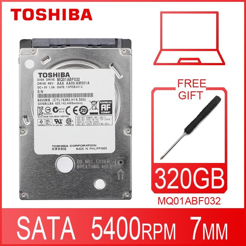 Внутренний жесткий диск TOSHIBA MQ01ABF032 для ноутбука, 320 Гб HDD HD 2,5 дюйма 5400 об/мин 8M SATA