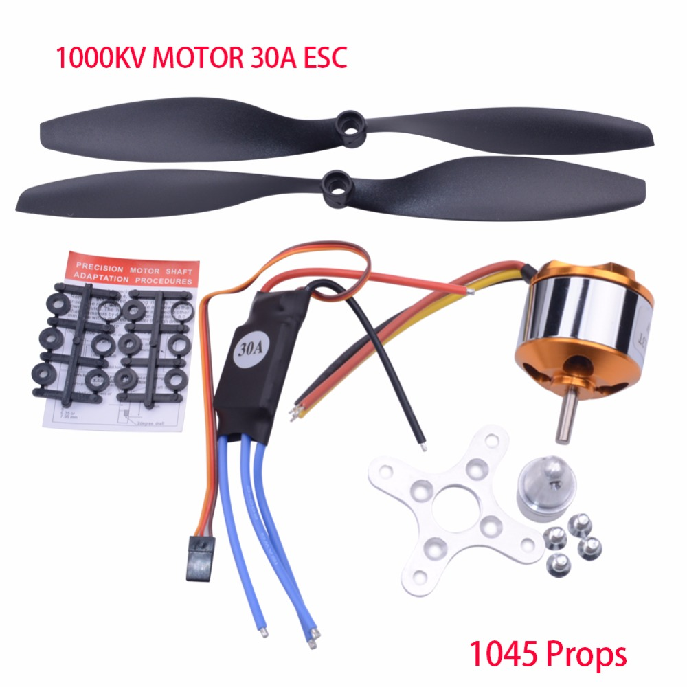 A2212 1000KV 2200 Brushless Outrunner Motor +30A ESC+1045 Propeller(1 pair) Quad-Rotor Set for RC Aircraft Multicopter new style sjl 6200 suit respirator painting spraying face gas mask with goggles paint glasses