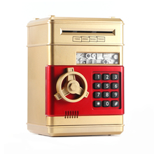 Youool Electronic Piggy Bank ATM Password Money Box Cash Coins Saving ATM Bank Safe Box Auto Scroll Paper Banknote Gift For Kids