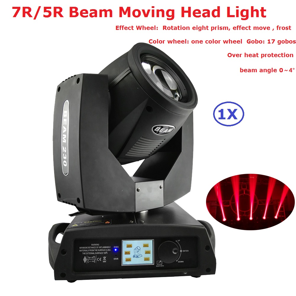 230W 7R / 200W 5R Beam Moving Head Lights With 17 Gobos + 14 Kinds Of Color Chips For Professional Disco Dj Laser Stage Lights230W 7R / 200W 5R Beam Moving Head Lights With 17 Gobos + 14 Kinds Of Color Chips For Professional Disco Dj Laser Stage Lights