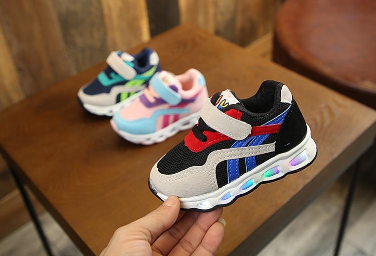 2020 novos tênis luminosos crianças sapatos com
