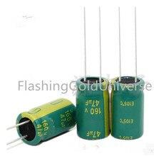 משלוח חינם 500 pcs 160 V 47 uF 47 uF 160 V 10*16mm אלקטרוליטי קבלים הטוב ביותר באיכות חדש מקורי
