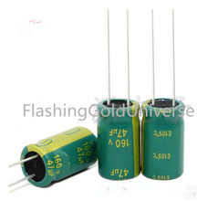 Free shipping 500pcs 160V 47uF  47uF 160V 10*16mm Electrolytic capacitors best quality New original