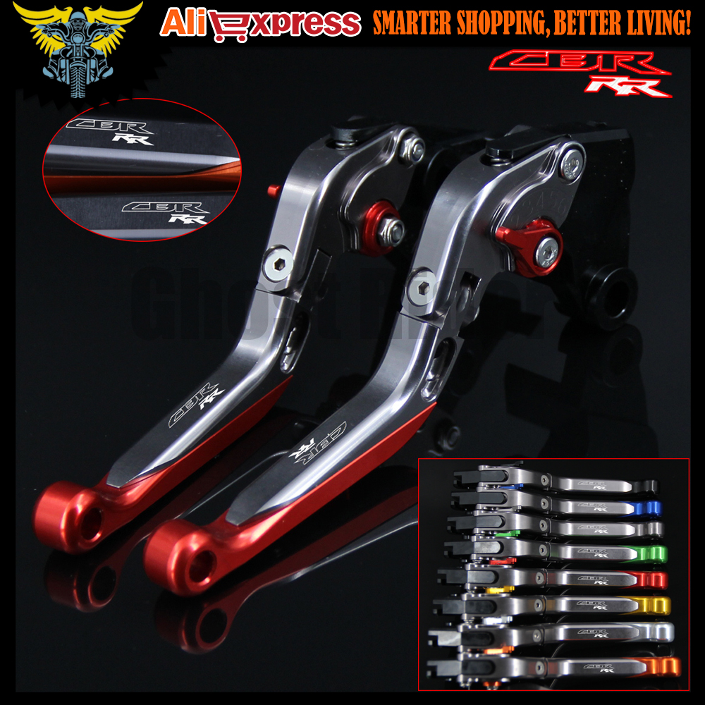 Logo(CBR RR) Red+Titanium Motorcycle Brake Clutch Levers For Honda CBR600RR 2007 2008 2009 2010 2011 2012 2013 2014 2015 2016 car rear trunk security shield shade cargo cover for nissan qashqai 2008 2009 2010 2011 2012 2013 black beige