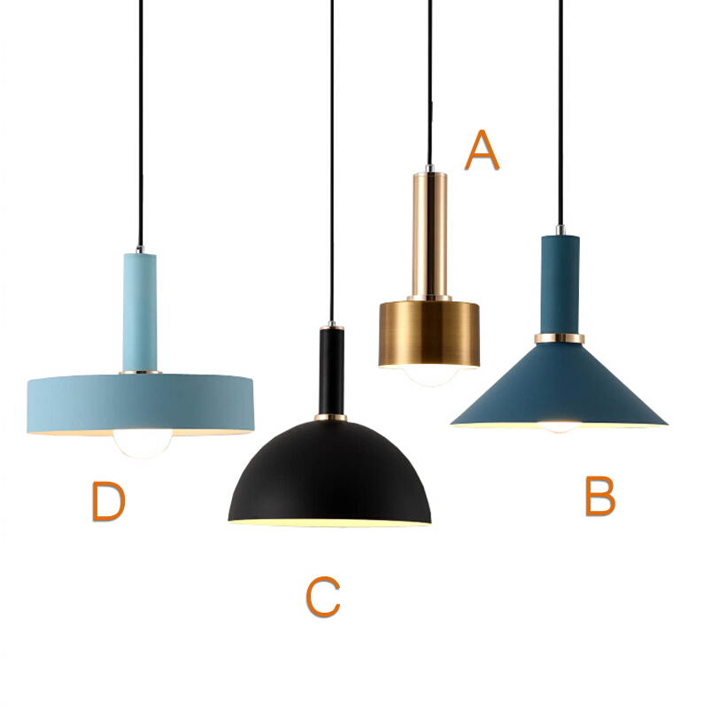 Nordic simple Pendant lights Modern bedroom bedside dining room Pendant lamp Bar/cafe individual creative lighting fixtures modern simple european style dining room lighting american hollow carved iron bedroom pendant lights