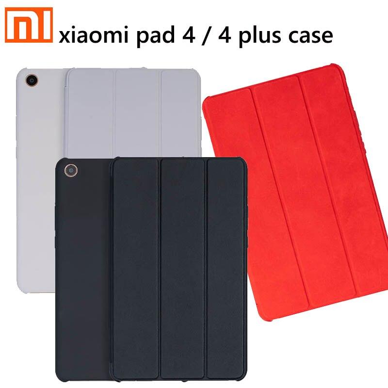 Original Xiaomi Mi Pad 4 Plus Smart Case Tablet Matte Screen Mi PAD4 PC + PU Leather Flip Case Mi Pad 4 4 Plus Sleeve 8