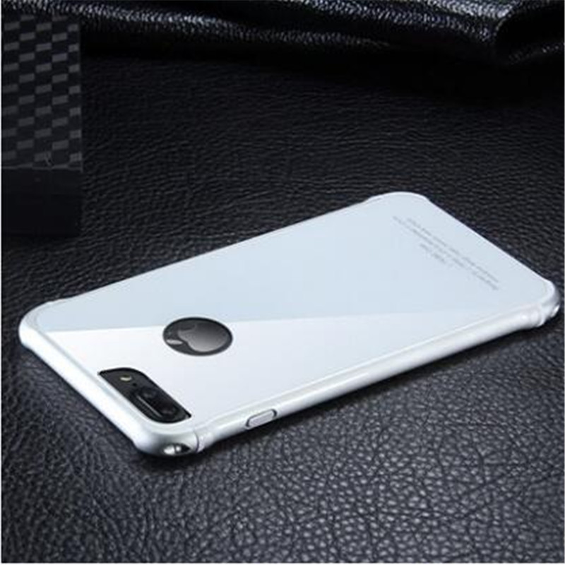 2018 Real Luxury Hard Metal Frame Glass Backplane Protective Phone For Iphone 8 7 6 6s Plus 7plus 8plus 6plus 6sp Back Cover