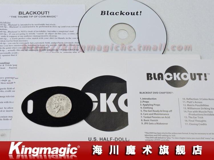 Блэкаут(полдоллара США) с DVD Волшебные трюки Волшебный реквизит волшебные игрушки