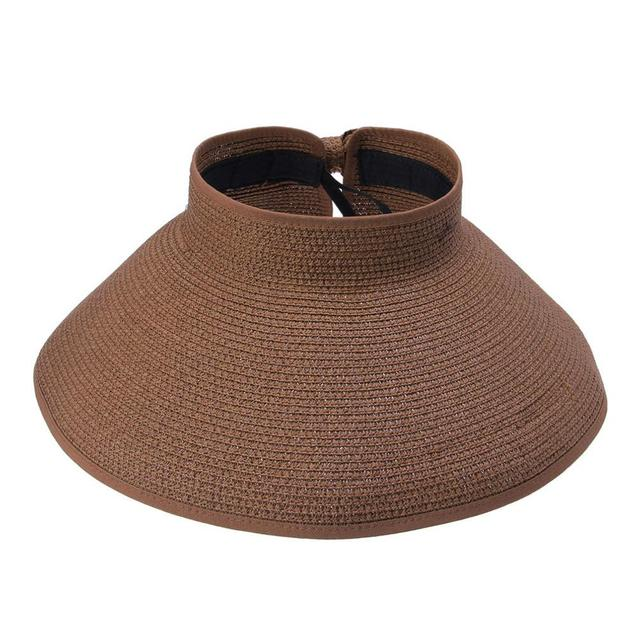 Summer Solid Sunshade Open Top Beach Hat Fishing Riding Hat Parent-Child  Straw Hat Folding Large Brim Hat Jul3130 3e4b9493bed2