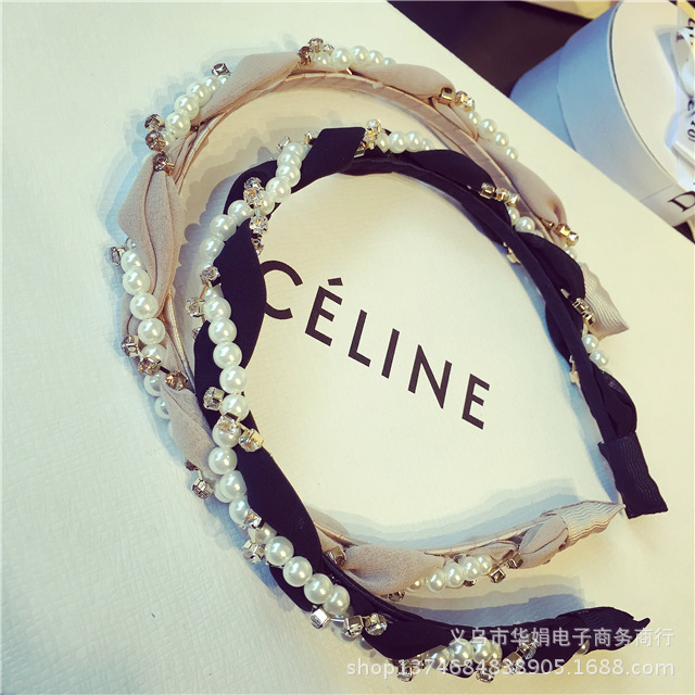 Luxurious Pearls Rhinestone Hair Hoop Headband