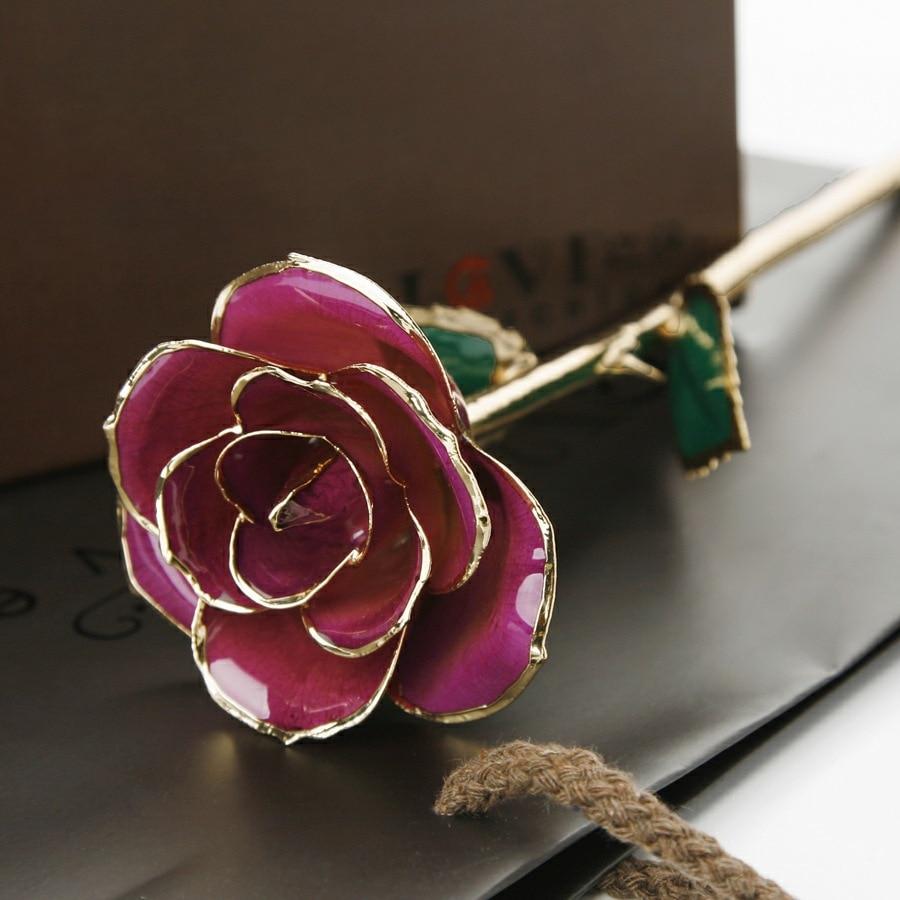 24 К золотая роза заказать на aliexpress