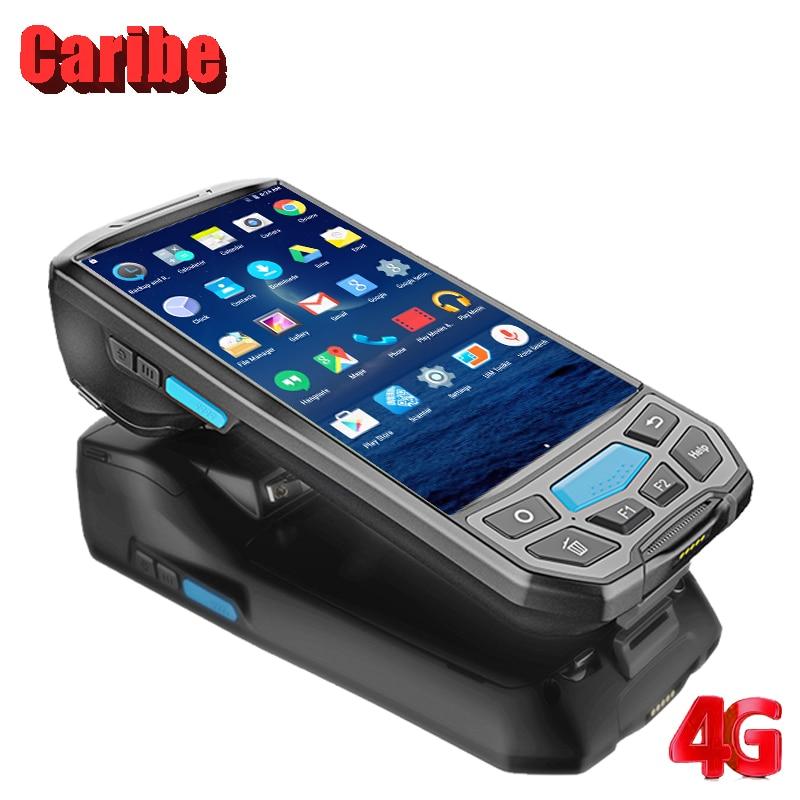 CARIBE промышленных КПК 1D 2D сканера штриховых кодов портативный терминал Tablet PC Беспроводной Bluetooth, Wi-Fi Android 7,0