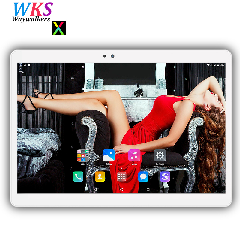 Free shipping 10 inch Android 7.0 tablet pc octa core 4GB+64GB 1280*800 IPS Dual SIM WIFI Bluetooth Smart tablets pc MID 10 10.1 планшетный пк tadf dual core 2 10 pc hd ips wifi pc 64 k $5