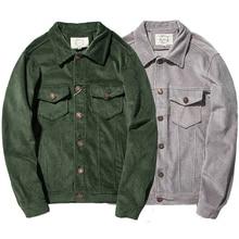 Japanese Style Clothing Retro Streetwear Urban Bomber Corduroy Jacket Men Plus Size 5XL Green Grey