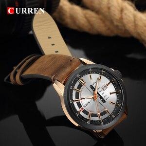 Image 4 - CURREN Montre de luxe pour hommes, Montre bracelet de sport militaire, analogique, à Quartz, affichage calendrier, décontracté