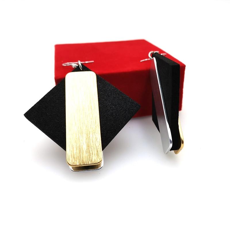 Купить с кэшбэком YD&YDBZ New Designer Handmade Rose Gold Aluminum Suspension Earring Soft Foam Dangle Earrings Jewelry Boho Style Women Ear Ring