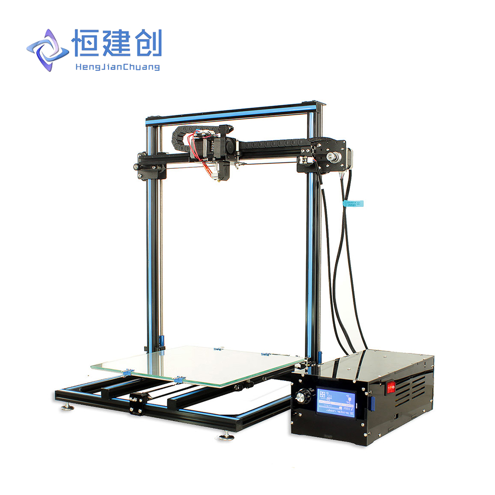 Free Shipping HCmaker 7 3D Printer Extruder Stable Printing Plus size Full Metal Frame With Independent 3D Printing Control Box stable page 7