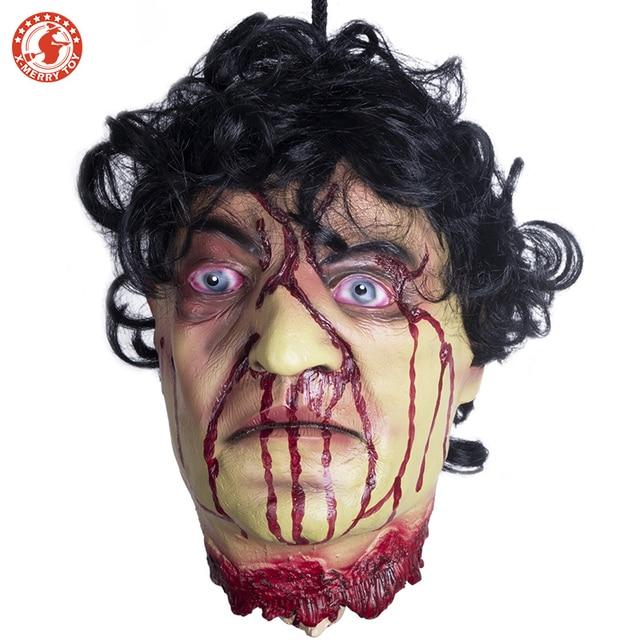 Украшение на Хэллоуин, страшная кровавая игрушка для розыгрыша, гвоздь через голову, ужас, реквизит для Хэллоуина, для костюмированной вече...