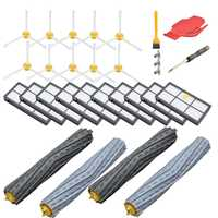 Substituição Kit de Acessórios Para Irobot Roomba Série 800 850 860 861 866 870 880 890 900 960 980,10 Series Filtro, 10 Escova Lateral, 2