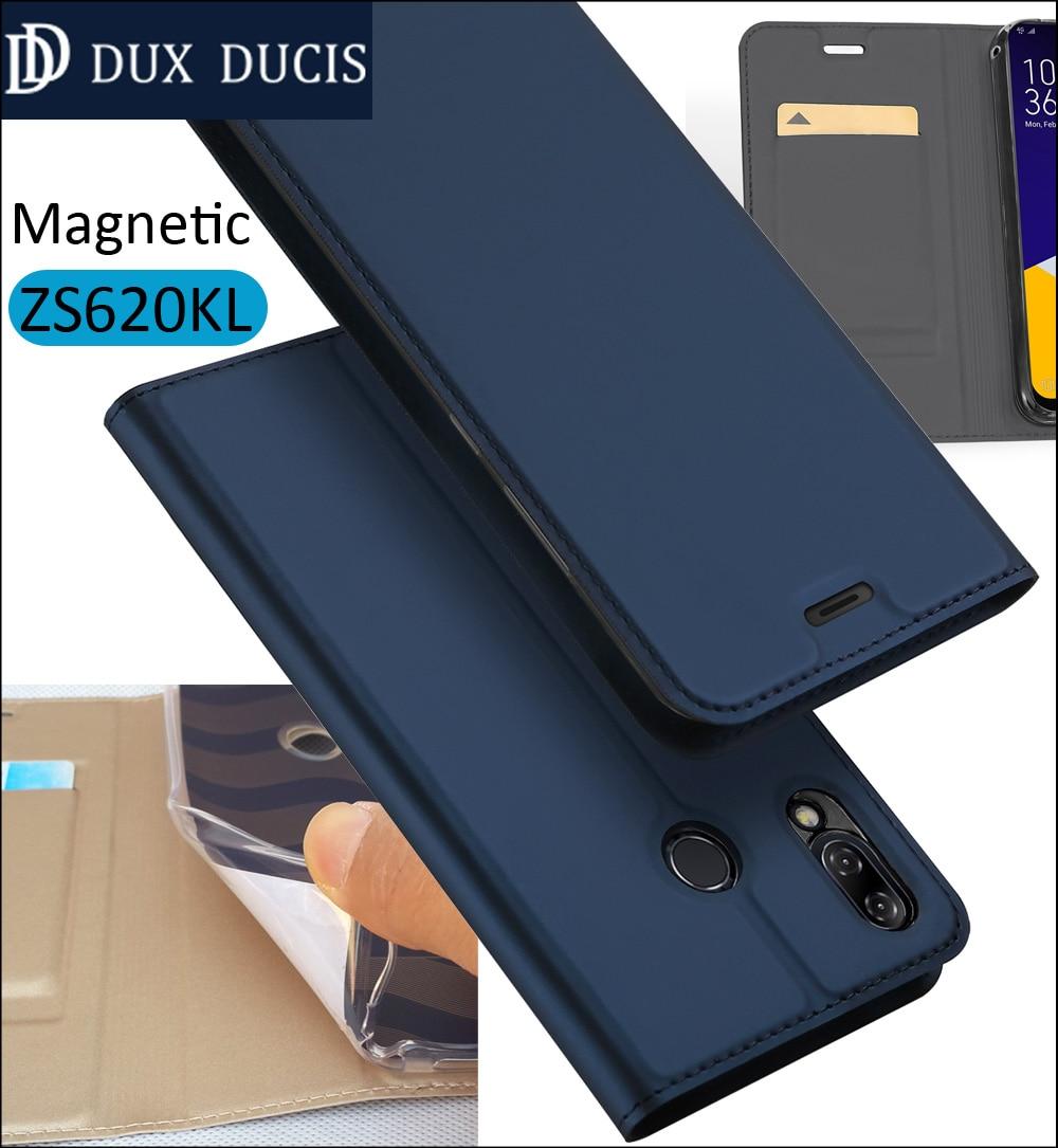 D'origine DUX DUCIS Housse Pour Asus Zenfone 5z ZS620KL Flip Book Portefeuille En Cuir Magnétique