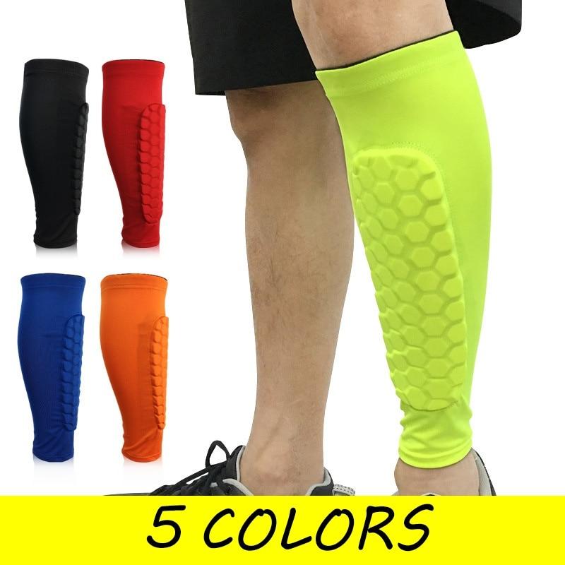 ec47d61565913a 1Pc Gym Sport Football Shin Guard Protector Soccer Honeycomb Anti-crash Leg  Calf Sleeve Compression Cycling Running Leg Warmers