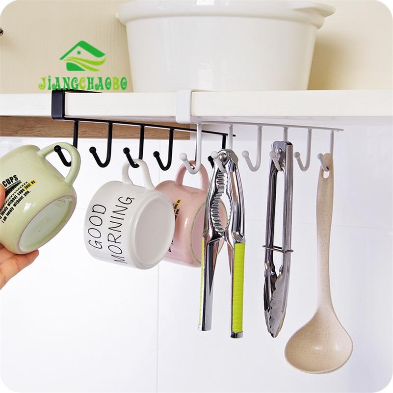 Iron Kitchen Storage Rack Skap Hengekrok Hylle Oppvask Hanger Bryst Oppbevaring Hylle Bad Organizer Holder