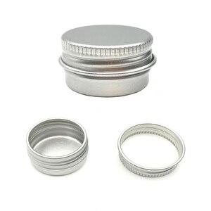 Image 4 - 50 adet/grup 5g 10g 15g 20g 30g 40g 50g 60g alüminyum krem kavanoz Pot Nail Art makyaj dudak parlatıcısı boş kozmetik Metal teneke kutu