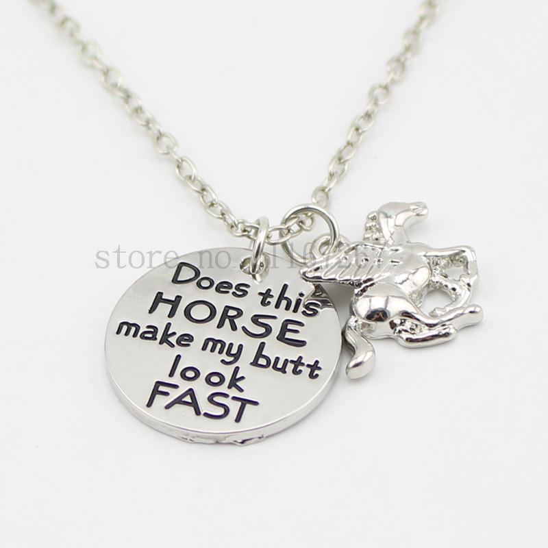 2015 does this horse make my butt look fast necklace hand for How do you make hand stamped jewelry