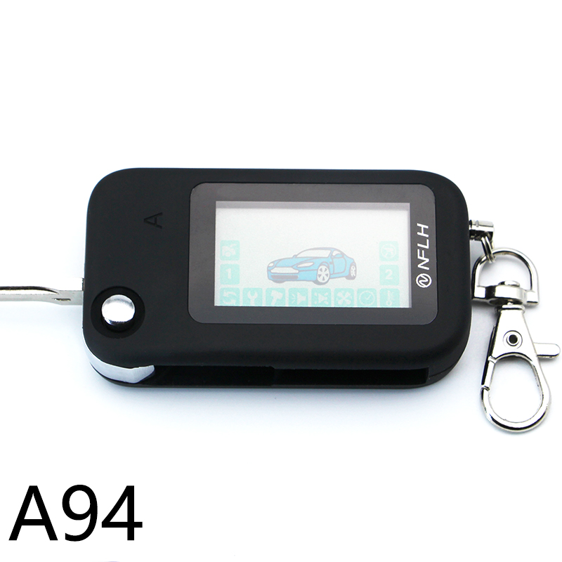 A94 Two Way LCD Remote Controller Key Fob Chain Keychain For Starline A94 Uncut Blade Fob Two Way Car Alarm System