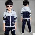 2017 Autumn Winter Children's Clothing Sets Boys Girls Sportswear Fashion Cotton Hooded Jacket+Casual Pants Suit 3-12 Years old