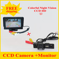 Factory price Color Car Rear View Camera for SKODA ROOMSTER OCTAVIA TOUR FABIA ,with 4.3 Inch HD TFT  LCD Monitor