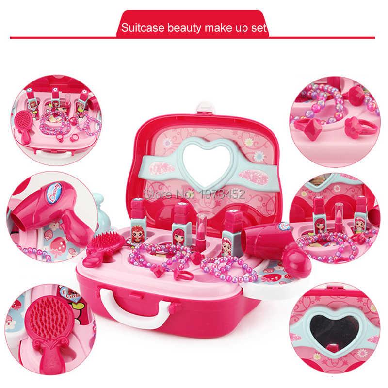 Вспомогательный шкаф портативный дизайн игрушечный туалетный столик brinquedo набор для ролевых игр куклы игрушка косметика для девочек включает 21 шт