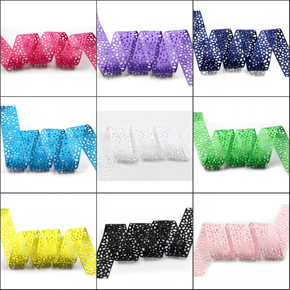 1 1 2 38mm Flower Hollow Solid Grosgrain Ribbon Pierced Floral Ribbon Clothing Tape DIY Handmade