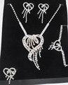 4 unids/set novia joyas de diseño romántico del corazón Crystal collar y pendientes y pulsera y anillo de la joyería de la boda establece para mujeres