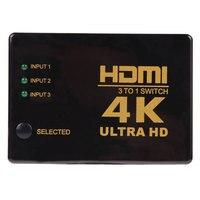 AHHROOU 2017 High Quality 4K 2K 3 To 1 Switch HDMI Switcher HDMI Hub Splitter TV