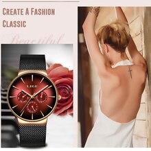 2019LIGE New Women Watch Top Marca de Luxo Criativo Dial Women Bracelet Watch Para Senhoras Relógio de Pulso Montre Femme Relogio feminino
