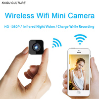 Mini Wifi IP Camera Infrared Night Vision HD 1080P Micro Camcorder Car Sport DV Recording Video