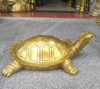 41 см большой # домашний двор наружное декорирование художественный городской дом приносить богатство талисман Золотая черепаха латунь фэн
