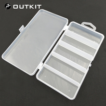 OUTKIT Fishing Deal with Containers Fixable 5 Compartment Plastic Storage Field Case Holder Fish Lure Bait Hooks Deal with