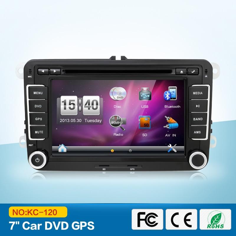 7-дюймовый 2DIN с мультимедийного VW Автомобильный DVD-плеер GPS навигации для гольф 6 Нью-поло Новый Бора Джетта Пассат В6 Шкода GPS карта
