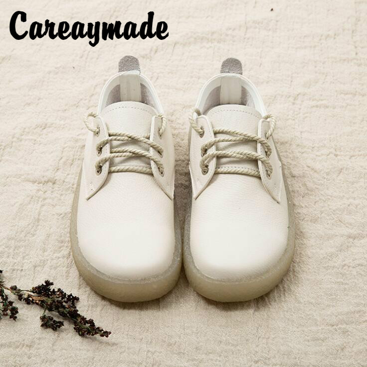 Careaymade-2019 New casual shoes, women's flat heel round head soft bottom shoes,handmade antique genuine leather shoes.
