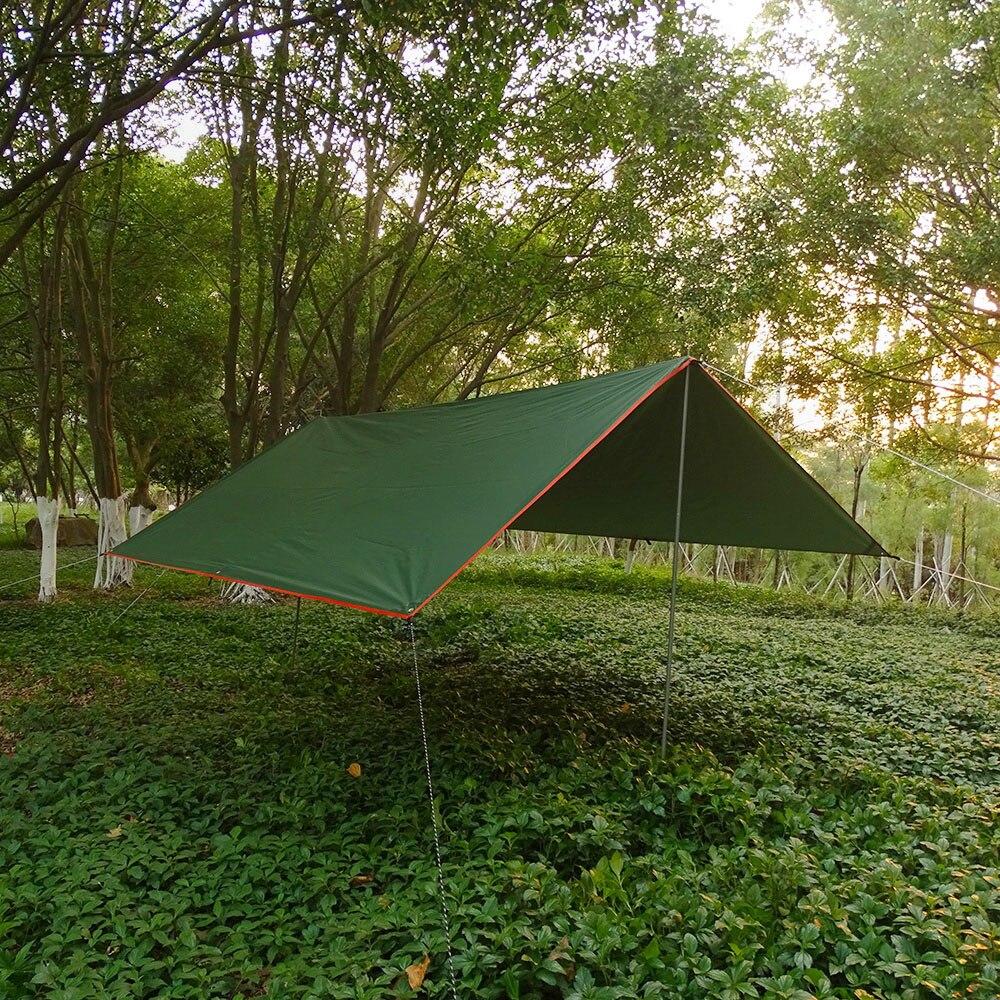 4x3m 3x3m Awning Waterproof Tarp Tent Shade Ultralight Garden Canopy Sunshade Outdoor Camping Hammock Rain Fly Beach Sun Shelter