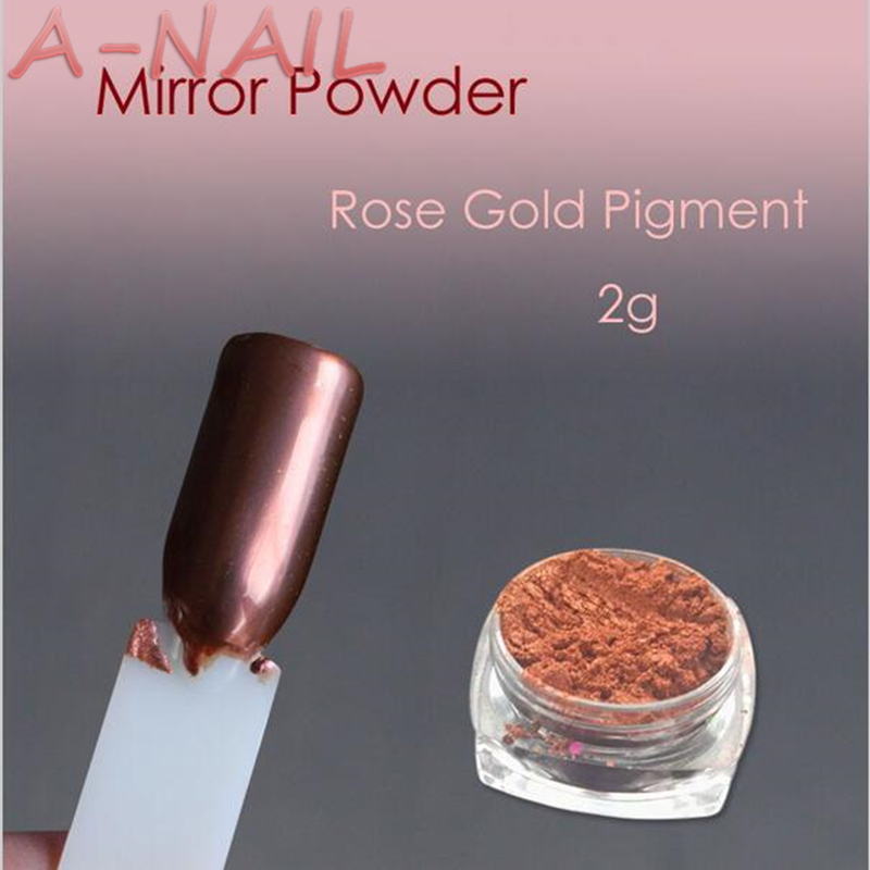 A NAIL Rose Gold Nail Mirror Powder Nails Glitter Chrome
