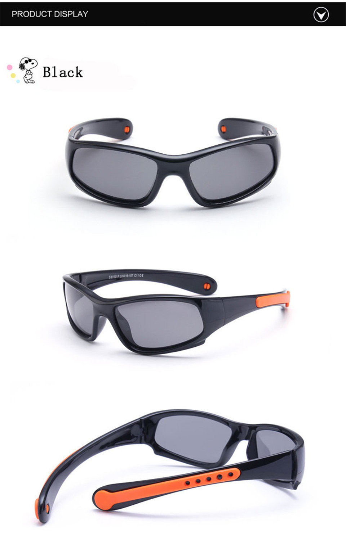 No easily broken Kids TR90 Polarized Sunglasses Children Safety Brand Glasses Flexible Rubber Oculos Infantil (9)