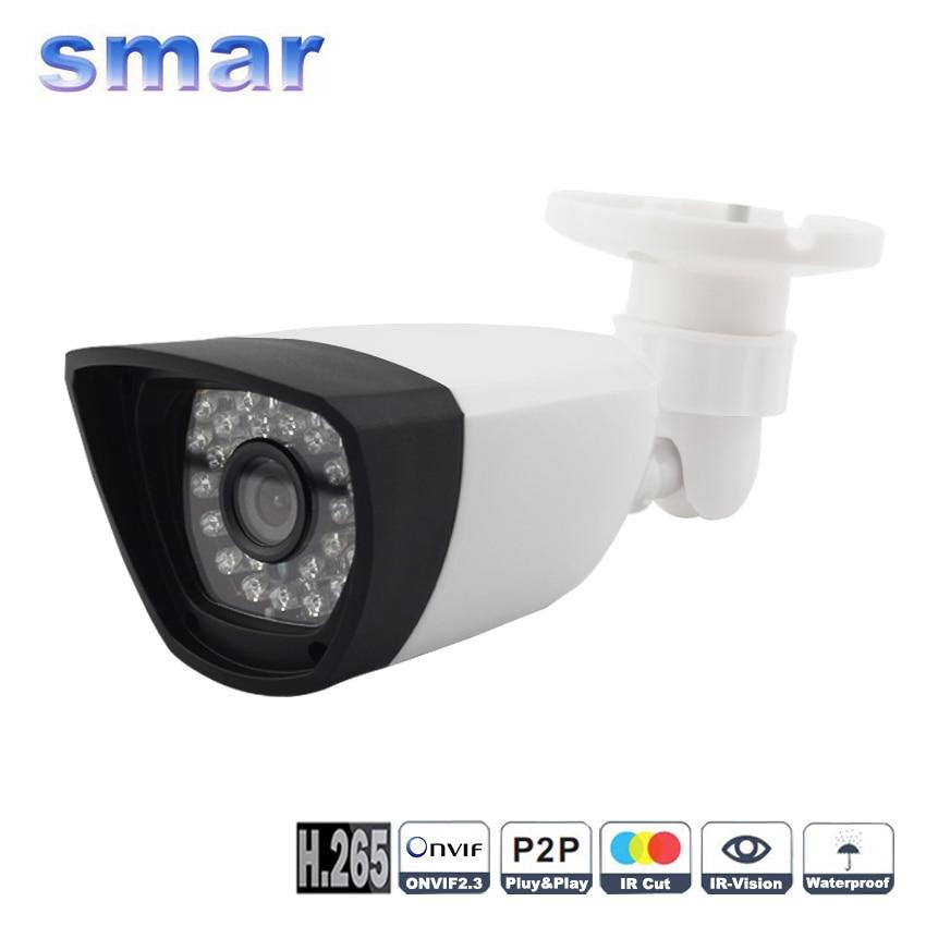 bilder für Neue H.265 2MP 3MP 4MP Ip-kamera Onvif XMEYE Sicherheit Indoor/Outdoor Bullt Kamera Hi3516D Chip 30 IR LEDS Cctv-kamera kunststoff